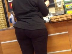 Look At That Juicy Ass At Subway! Mature Ebony Donk.