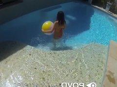POVD - Cute Tiffany Fox shows her squirting skills