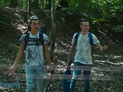 Fuck in camping with horny twinks