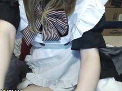 Cute Petite Teen Rubs Pussy on Webcam