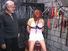 Aging red-head tethered bound and whipped