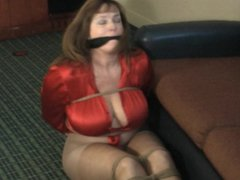 Busty milf in ropes