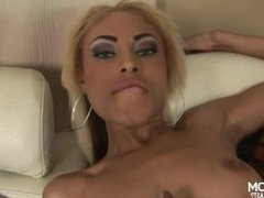 beauty gets her pussy fucked by large black dick