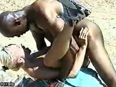 blonde  fucks a black guy