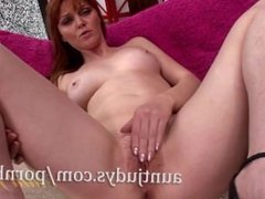 Mature Redhead Marie McCray Lays Down and Masturbates