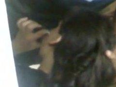 Girl sucking Supervisors dick in store room