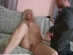 Mature and young Russian threesome 2
