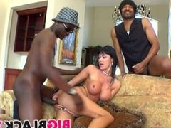 Black double penetration for Eva Karera