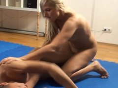 blonde vs skinny guy, loser pleases the winner - super hot