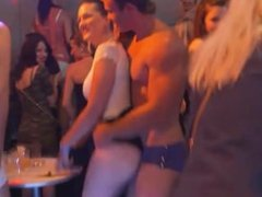 Cock Hungry Ladies Turn Slutty At Real CFNM Party
