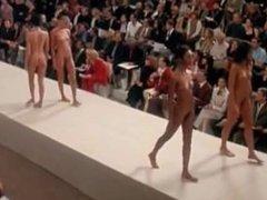Famous Runway Nude Fashion Show