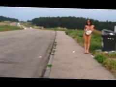 Sw33t Anna 3 - Public Flashing and Blowjob on the Autobahn