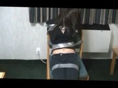 Asian Bound With Duct Tape
