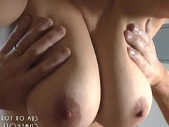 Wife Gets A Deserved Fat Load On Her Big Tits