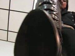 german Princess Jenny kiss my boots loser