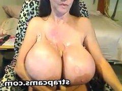 Amazing Mature With Huge Tits Masturbation