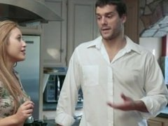 Cute Babysitter Marina Angel Banged In The Kitchen