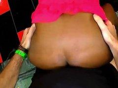 Gangbang Ebony Slut Covered In White Cock Jiz