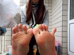 Self filming asian soles scrunc 1fuckdatecom