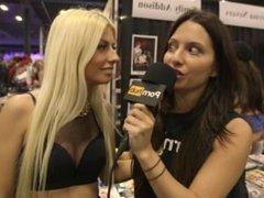 Allie Haze & Jessie Volt at eXXXotica 2015 with Pornhub Aria