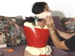 taped and gagged in pantyhose