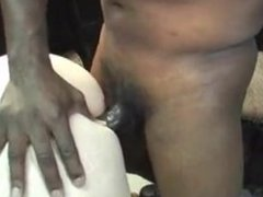 Black dude busts nut on white milf butt in denver fuck party