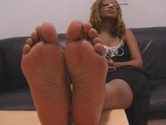 Sexy Ticklish Candid Ebony Toes