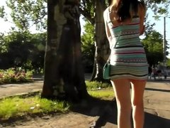 good sexy ass walking in the forest