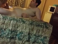 Lucky dude has two women on his bed