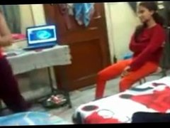 Desi College girls in hostel Naughty dance