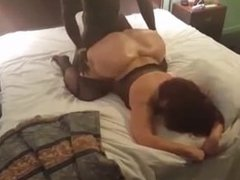 Big booty cougar cheats with young black guy she met on MilfHoookup.com