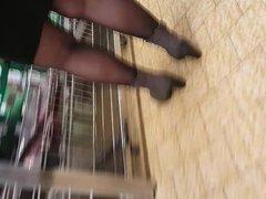 Nylon legs Candid
