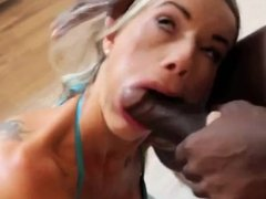 Mature content(Hot blonde eating a BBC)