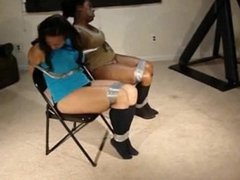 Black girls tape gagged