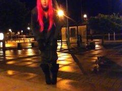 tranny public flashing is cosplay wig