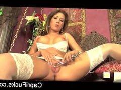 Capri fucks her pussy in some hot white lingerie -CAMS69.ORG
