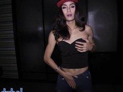 Amateur ladyboy pov blowjob and anal sex