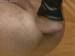 Dominafist.com - Black leather and double fisting