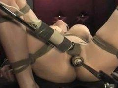 Natalie bound and machine fucked