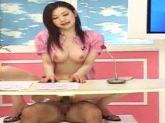 Azumi Mizushima announcer rides cock