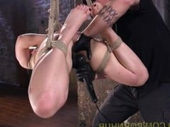 Redhead's Brutal And Extreme Rope Bondage
