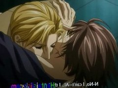 Handsome anime gay hot kissed and anal fucked