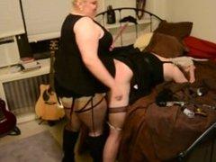 BBW Dominatrix Turns Boyfriend Into a Sissy Slut and Fucks Her!