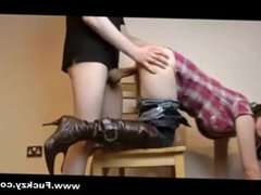 Horny Cowgirl Teen Fucked From Behind