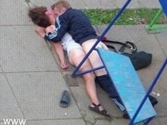 Drunk Couple Having Sex in Public Park