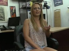 Pawn shop hidden cam films babe strip