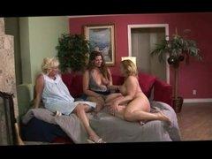 Granny enjoys lesbian sex