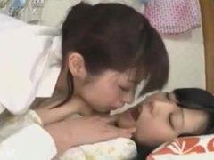 Asian Girls Kiss Face Lick