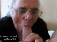 Older Man Sucks a Big Cock