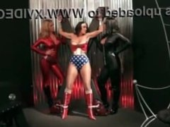 Wonder Woman Abused By Lesbians